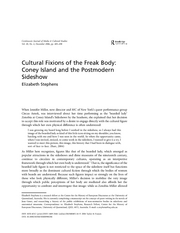 Cultural Fixions of the Freak Body