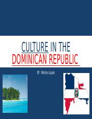 Culture in the Dominican republic.pptx