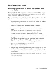 File I:O Assignment notes