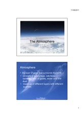 Lec 2 The Atmosphere Handout