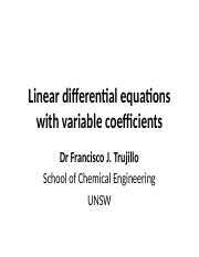 07 Linear differential equations with variable coefficients