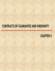 CH 4 V2 - Contracts of Guarantee and indemnity