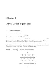 Math 334 Direction Field Notes