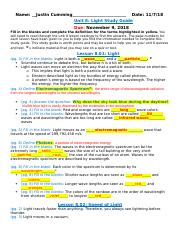 Unit 8 Light Study Guide Student Version1.docx