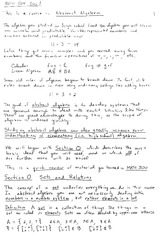 Homework A Solutions on Algebraic Structures and Functions