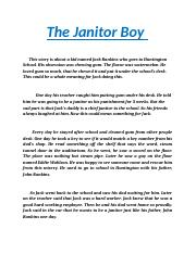 The Janitor Boy
