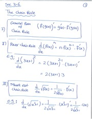 3.6 The chain rule