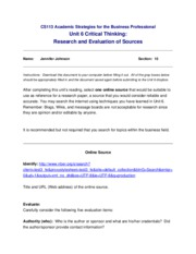 JenniferJohnson296_CS113-Unit6-Critical Thinking