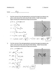 Calculus for Engineering Technology 2 Workshop 1 answers