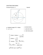 Lecture 9 Notes Radius Equations