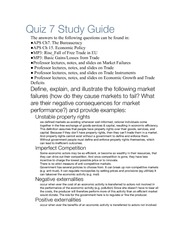 Quiz 7 Study Guide