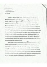 Political Science essay