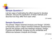 P19 Pdf Sample Question 7 List Two Ways Of Estimating The Effort Required To Develop Software Discuss The Application Of These Methods And Describe Course Hero