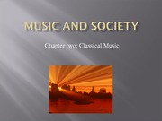 Music and Society Classical