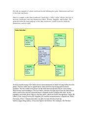 Week 4 data warehouse model defining the grain, dimensions and facts of the data warehouse.docx