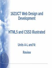 Week 13 Revision Pdf 1621ict Web Design And Development Html5 And