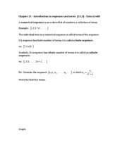 Chapter 13 _ Introduction to sequences and series