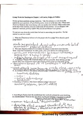 group work for readings in chapter 1 of courts, judges, and politics worksheet