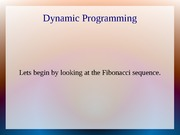 Dynamic Programming Lecture Note For COSC 4P03