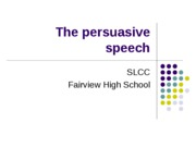 The persuasive speech (1)