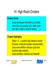 Chapter 14.1 High-Radix Dividers.pdf