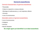 Lecture-34 Anaesthetics (1)