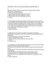 Midterm 2 Practice Exam Questions & Answers
