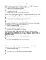 Contracts II Brief hypos