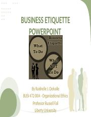Business Etiquette BUSI 472
