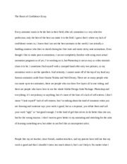 Essay3 - Boost of Confidence