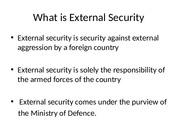 What is External Security