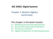 Chapter3-BooleanAlgebraContinued