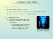 Power Lecture 6_Psychoanalysis and Power