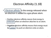 Electron Affinity and Lewis Structure