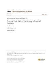 Personal Foul- Lack of Captioning in Football Stadiums