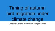 Climate Change and Migration Presentation