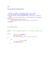 CSS html code for header