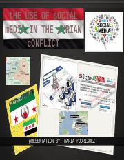 Student generated: he use of Social Media in Syrian Conflict