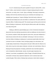 Research Paper- 1st Draft