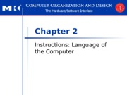 Chapter 2 Instructions Language of the Computer [Autosaved]