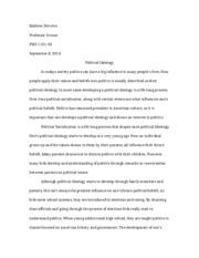 political ideology essay matt schaeffer political ideology essay  5 pages political ideology