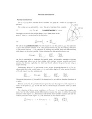 Partial derivatives study guide