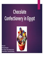 Chocolate confectionery in Egypt.pptx