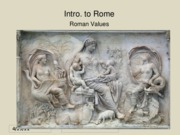 01c Intro Rome - Values