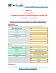 300-115 Exam Dumps with PDF and VCE Download (121-150).pdf