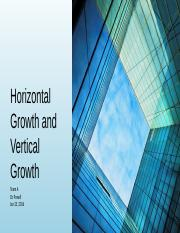 Horizontal growth and Vertical growth team Pres (1)