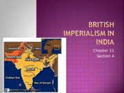 British Imperialism in India - Section 4