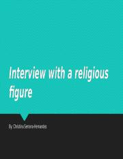 Interview with a religious figure.pptx