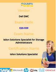Dell EMC E20-559 Exam Practice Test Discount
