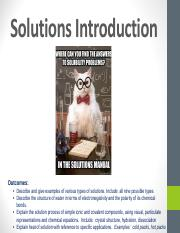 1.  Solutions Introduction